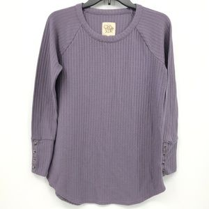 Chaser Women's Waffle Knit Thermal Top Size Medium